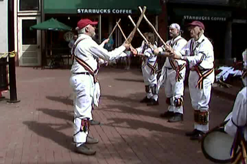 The Maroon Bells Morris Dancers - Dancing on the Pearl Street Mall in Boulder, CO